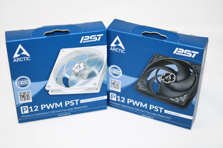 ARCTIC P12 PWM PST WHITE AND BLACK 1