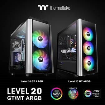 Thermaltake New Level 20 MT ARGB Mid-Tower Chassis  and Level 20 GT ARGB Full Tower Chassis