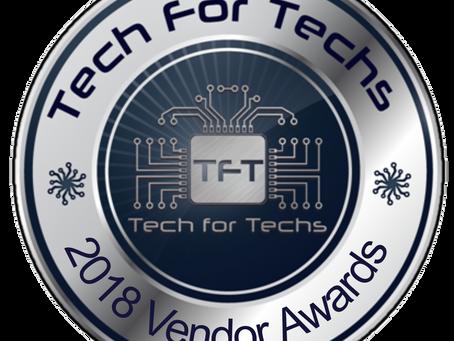 Tech For Techs 2018 Vendor Awards