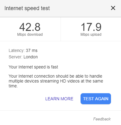 UK VPN speed