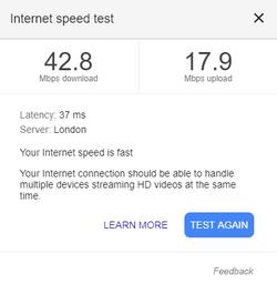 UK VPN speed