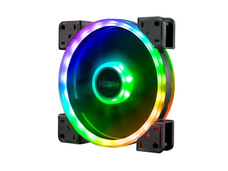 Akasa Releases the Vegas Twin Loop Dual Sided Addressable RGB LED CoolingFan Series