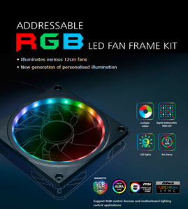 Akasa Launches the Addressable RGB LED Fan Frame Kit for