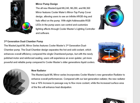 Cooler Master Introduces the Mirror Series New Liquid Cooler