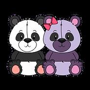Игрушки две панды