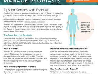 Helping Seniors with Psoriasis