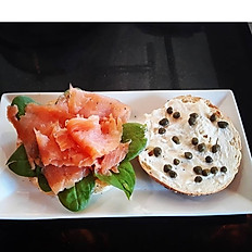Salmon + Capers Bagel