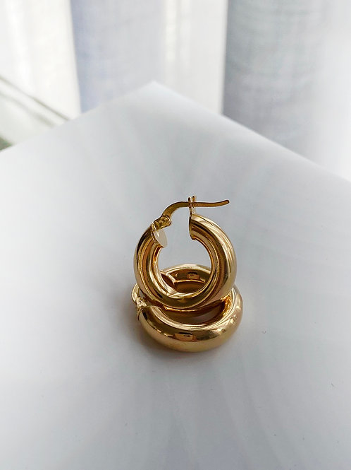 עגילי האנה  זהב קטנים