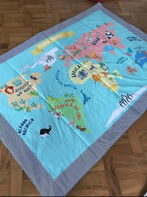 Tapete Arte Criada - Mapa Mundi