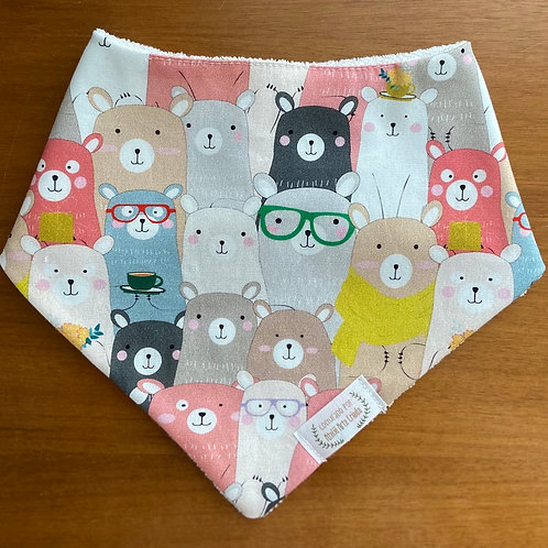 Babador Bandana Ursos de Óculos