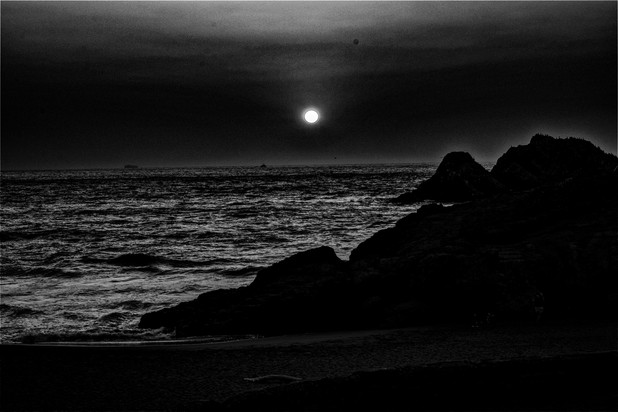 Black and White Sunset