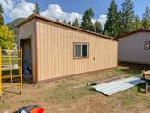 Custom garage shed.
