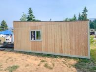 Custom built storage shed.