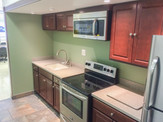 Remodeled office kitchen.