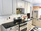 Progress photo of a kitchen remodel.