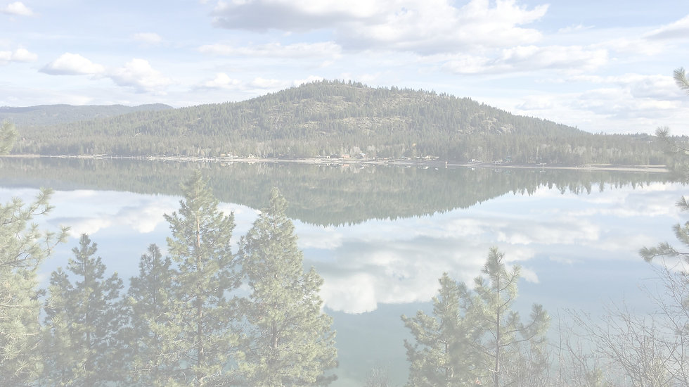 Beautiful scenic photo of lake in Sandpoint, Idaho.