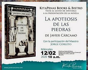 Invitación novela La apoteosis de las pi