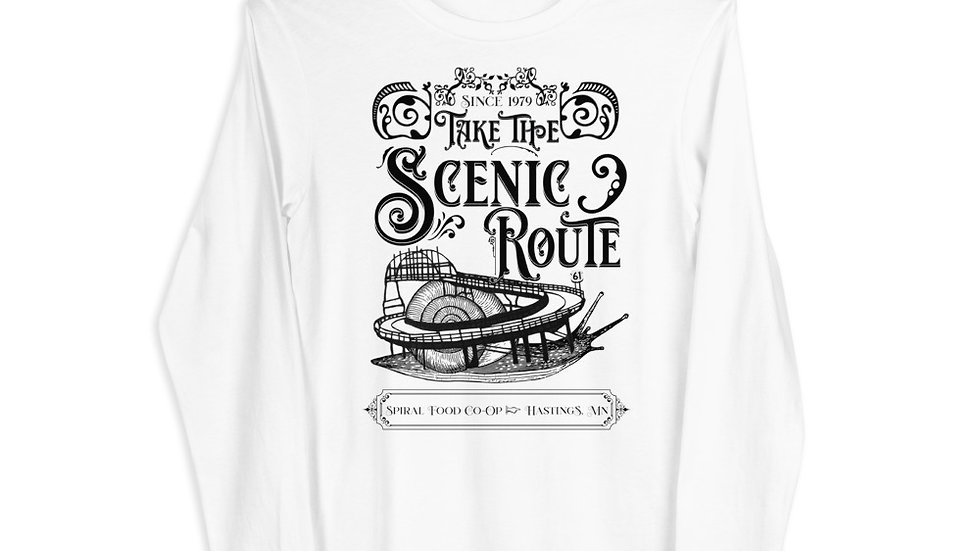 Take the Scenic Route - Spiral Fundraiser Shirt - Unisex Long Sleeve Tee