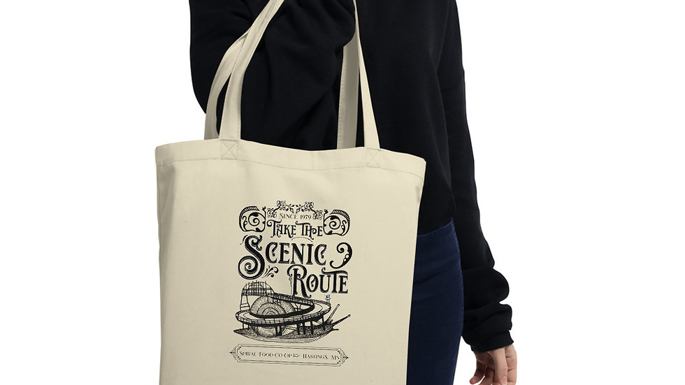 Take the Scenic Route - Spiral Fundraiser Eco Tote Bag