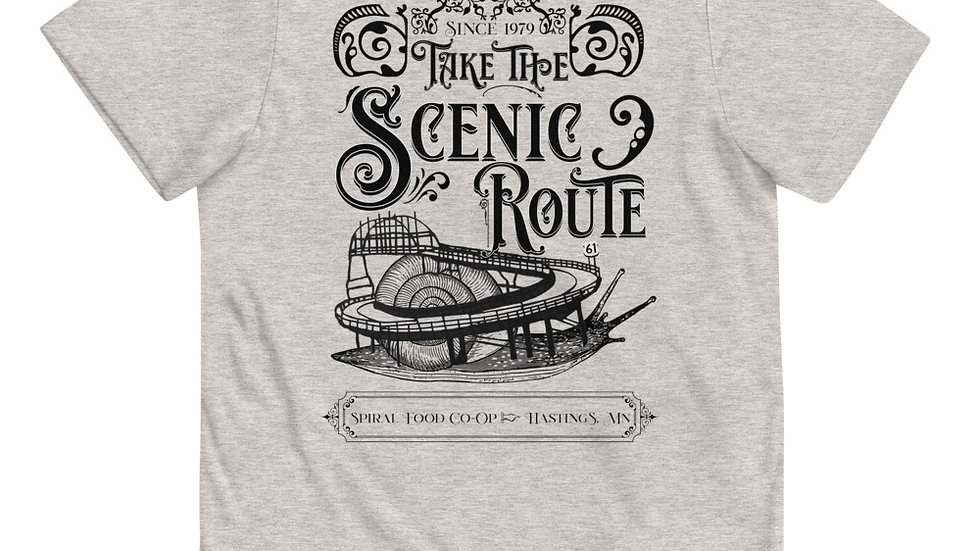 Take The Scenic Route - Spiral Fundraiser Shirt- Youth jersey t-shirt