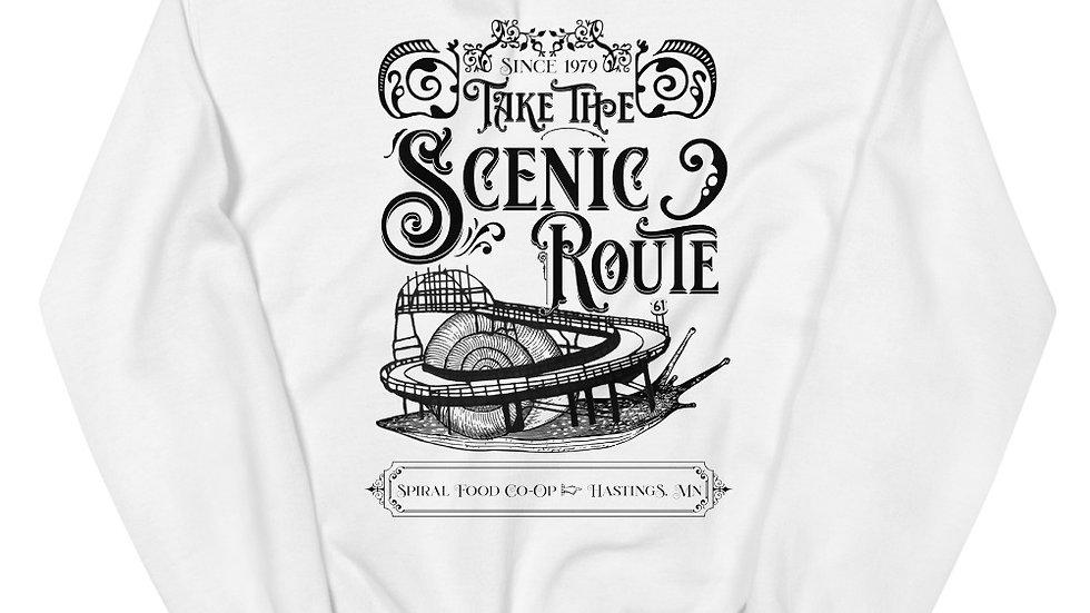 Take the Scenic Route - Spiral Fundraiser Shirt - Unisex Sweatshirt
