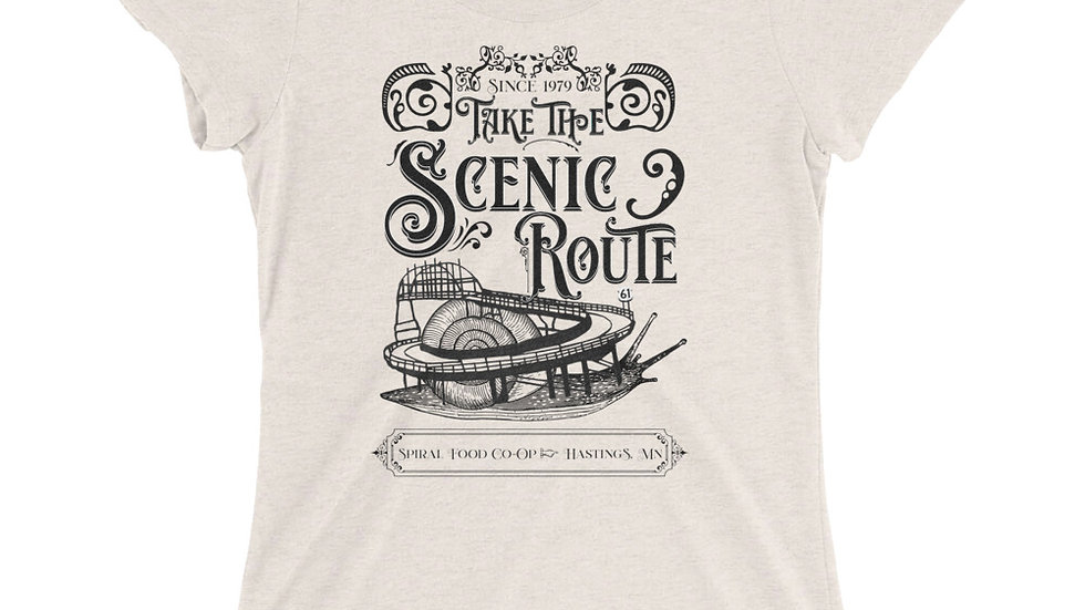 Take the Scenic Route - Spiral Fundraiser Shirt - Ladies' short sleeve t-shirt