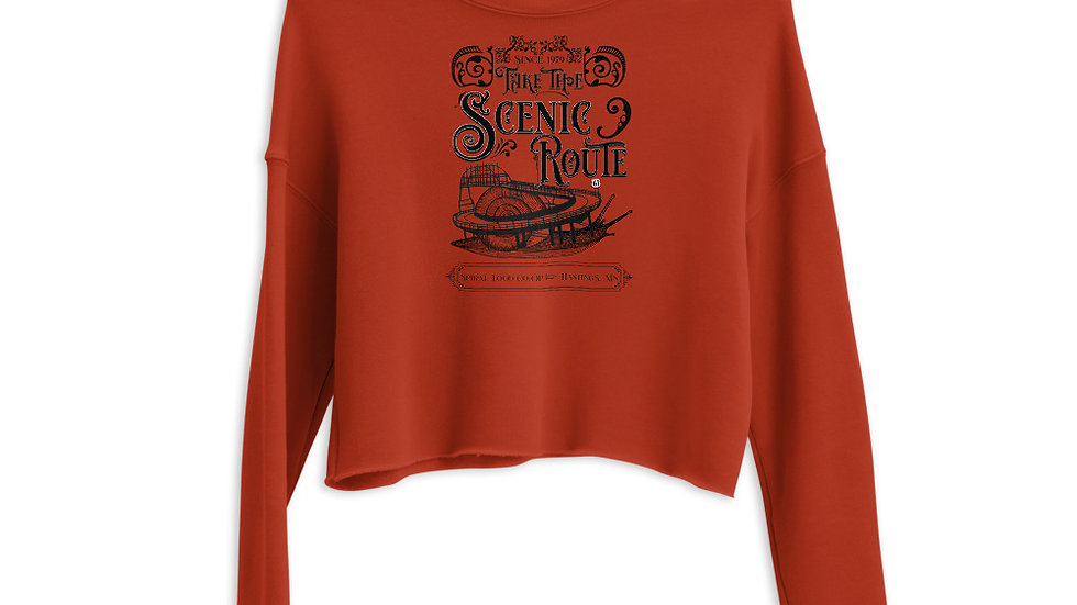 Take the Scenic Route - Spiral Fundraiser Shirt - Crop Sweatshirt
