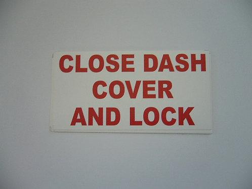 Close Dash Cover & Lock Sticker