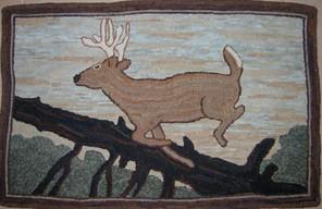 Heirloom Deer 27x38 approx, $595