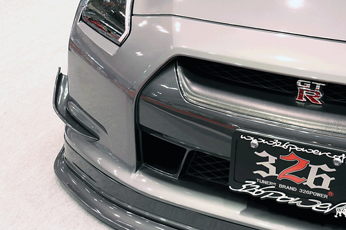 326POWER 3D☆STAR Front Canards for Nissan R35 GT-R