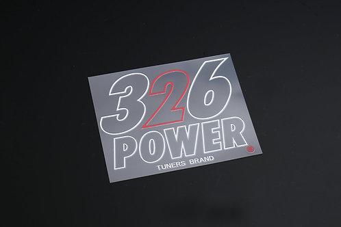 326POWER Tuners Sticker