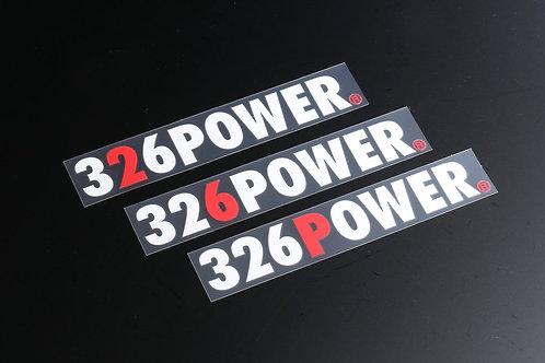 326POWER Red Sticker