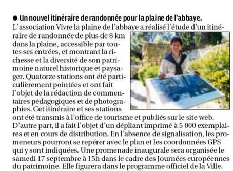 La Provence 30/07/2016 - Un nouvel itinéraire de randonnée pour la Plaine de l'Abbaye