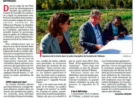 La Provence 07/10/2016 - Plus de bio dans les assiettes de Villeneuve et Pujaut