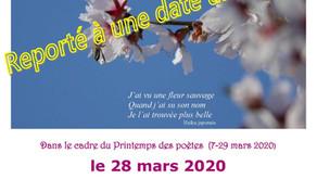 L'herbier poétique   le 28 mars 2020
