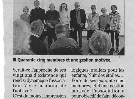 Midi Libre 27/01/2019 - Vivre la Plaine de l'Abbaye : ça roule !
