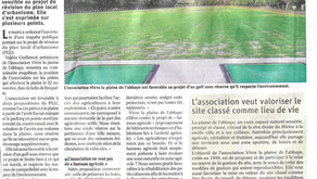 Article Vaucluse Matin PLU - L'association favorable au projet d'un golf - 5 nov 2019