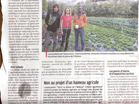 Article de La Provence - L'association inquiète pour le PLU - 7 nov 2019