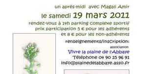 """Sortie """"Cueillette de salades sauvages dans la plaine de l'Abbaye"""" le samedi 19 mars 2011"""