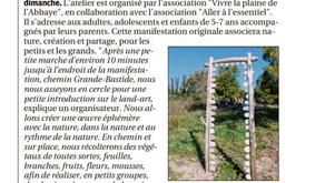 La Provence 25/04/2018 - Un atelier land-art tout public