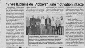 La Provence janv 2019 - Vivre la Plaine de l'Abbaye : une motivation intacte