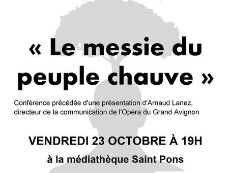 Conférence d'Eric Breton, vendredi 23 octobre à 19h