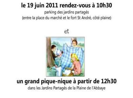 Invitation aux Jardins Partagés de la Plaine de l'Abbaye le 19 juin 2011
