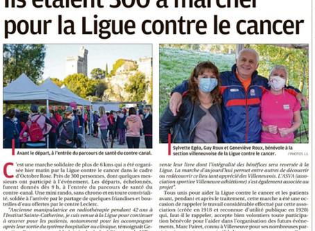 Octobre rose dans la presse locale