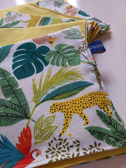 "Serviette en tissu #jungle"" (lot de 6)"