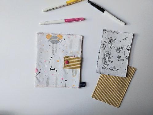 Pochette et cartes à colorier Lapin