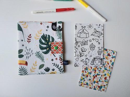 Pochette et cartes à colorier Toucan