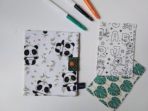 Pochette et cartes à colorier Panda