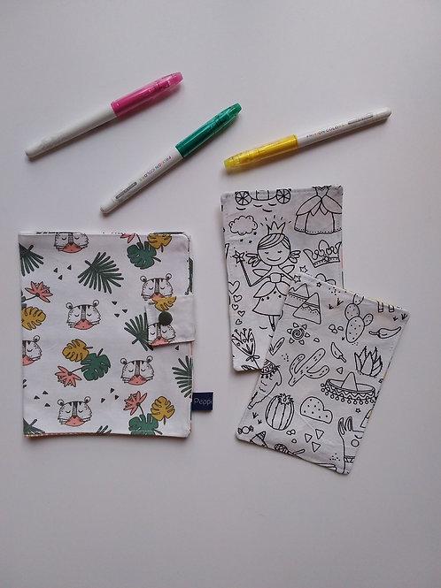 Pochette et cartes à colorier Tigre