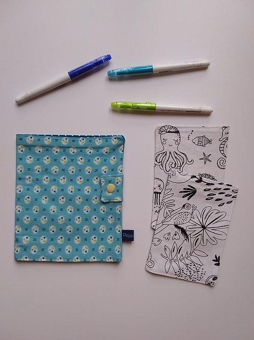 Pochette et cartes à colorier Tulipe